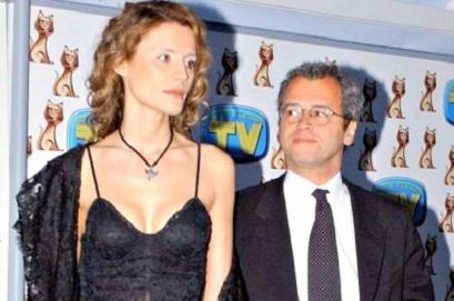 Enrico Mentana con la moglie