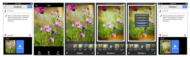 Nuovi filtri fotografici per Google +
