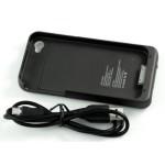 Custodia cover con Batteria tampone per iPhone 4 e iPhone 4S da 1900 mAh - Nero