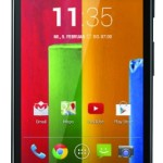 Motorola Moto G Smartphone, 4,5 pollici display HD, processore Qualcomm, memoria 8GB, MicroSIM, Android 4.4 OS, fotocamera da 5 MP, Nero [Germania]