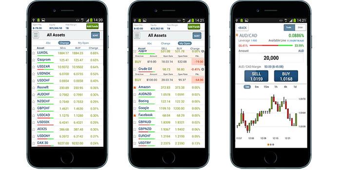 Online broker android app