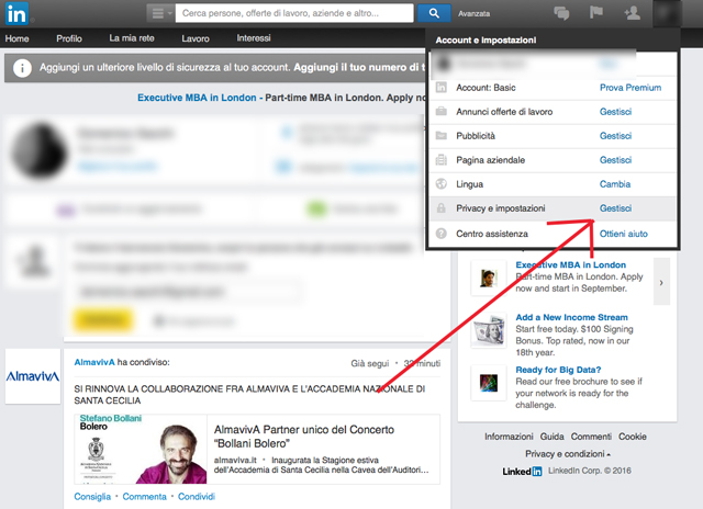 linkedin-gestione-privacy