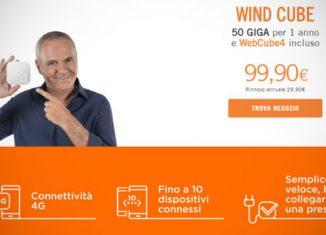 Wind Cube solo 99 euro per 50 GB di internet